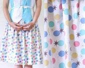 ATOMIC Print Skirt . 1950s