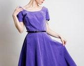Purple Velveteen Dress