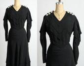 Black & Bling 1930s Dress LBD