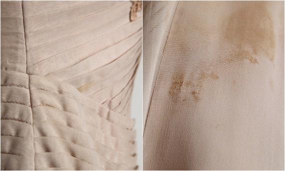 Beige Chiffon Pleated Dress - image 9