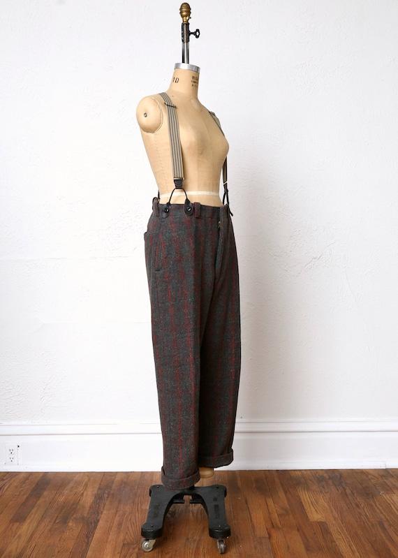 Vintage Wool Pants . Red Green Plaid - image 5