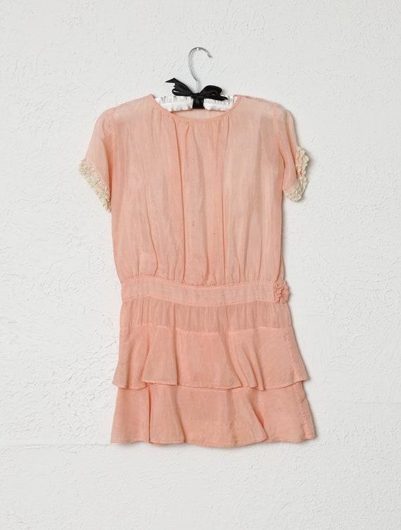 Antique Kids Pink Cotton Dress - image 3