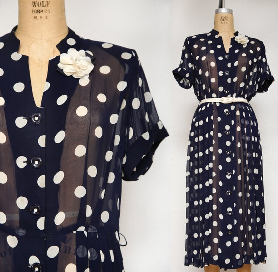 1940s Polka Dot Dress