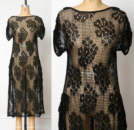 1920s Sheer Lace dress