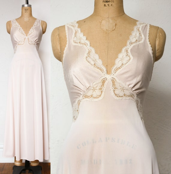 Pink Slip Lace Night Gown