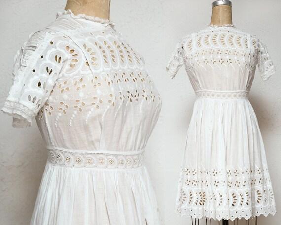 Antique Lace Cotton Dress . XXS or Child Size