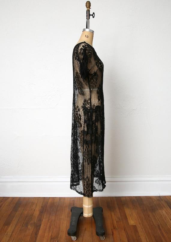 1920s Sheer Lace dress - image 6