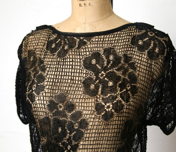1920s Sheer Lace dress - image 7