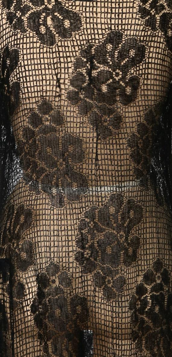 1920s Sheer Lace dress - image 9