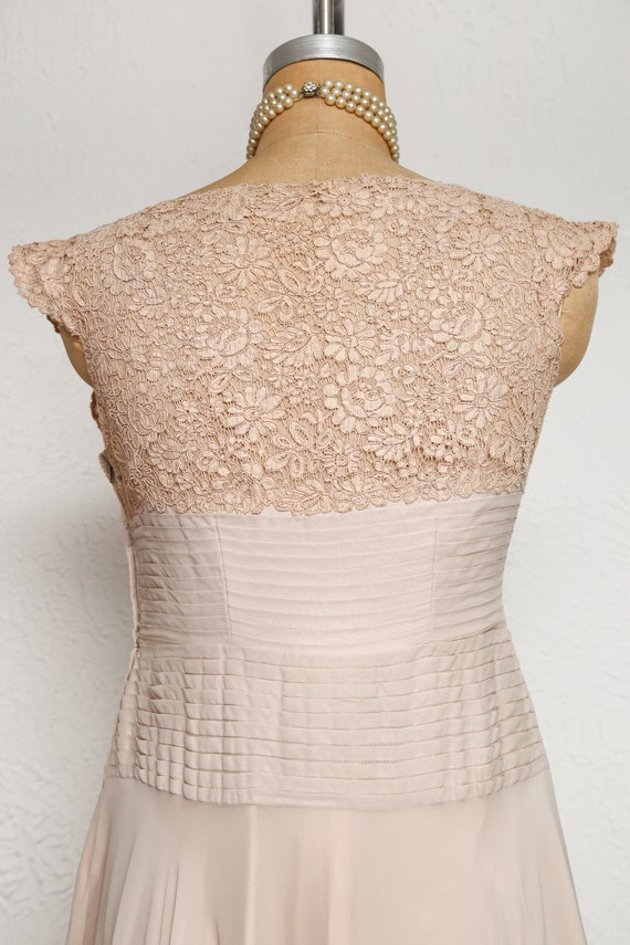 Beige Chiffon Pleated Dress - image 6