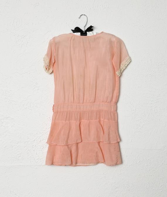 Antique Kids Pink Cotton Dress - image 4