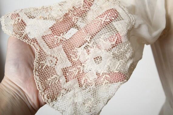 Antique 1900s Lace Dress Ivory Cotton Gown - image 4