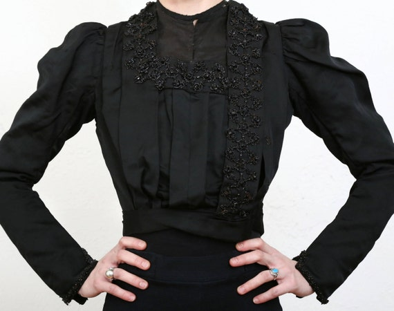 Beaded Victorian Top 1800s Blouse - image 2