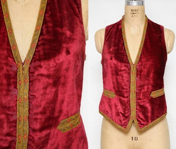 Antique Velvet Vest