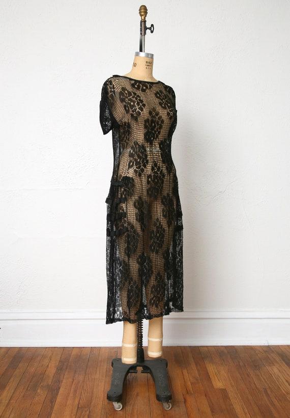 1920s Sheer Lace dress - image 4