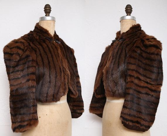 Vintage Cropped Fur Coat