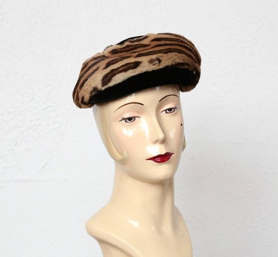 Vintage Leopard Print Hat