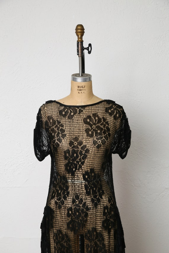 1920s Sheer Lace dress - image 3