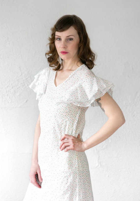 1930s Polka Dot Dress - image 4