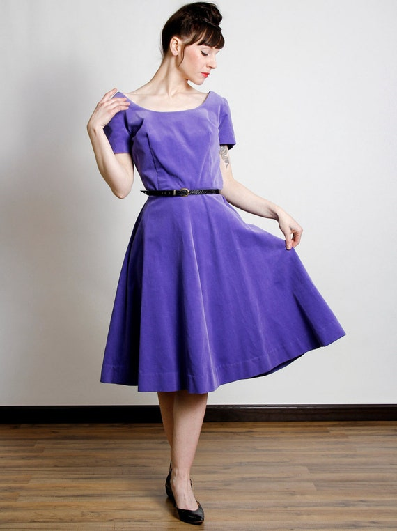 Purple Velveteen Dress