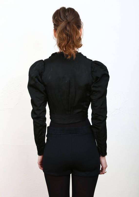 Beaded Victorian Top 1800s Blouse - image 5