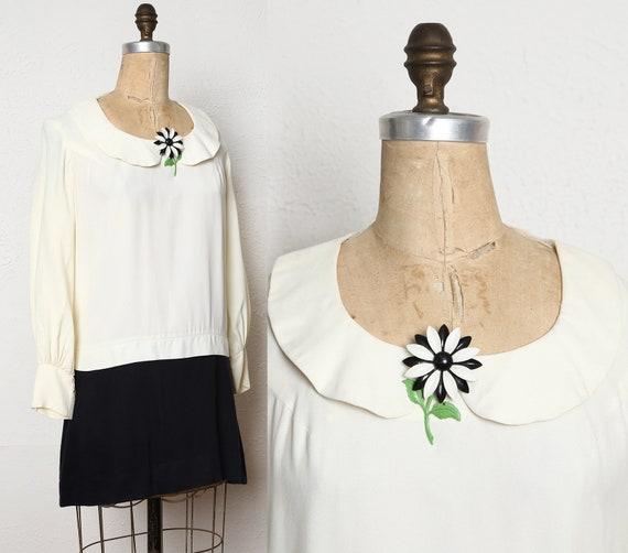1960s Mini Dress with Flower Brooch