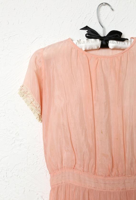 Antique Kids Pink Cotton Dress - image 2