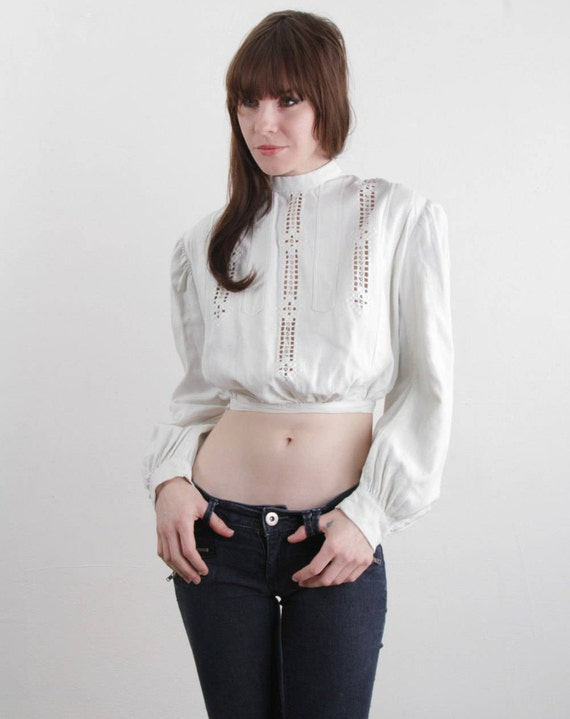 Cut Outs XS Victorian Blouse Puff Sleeve