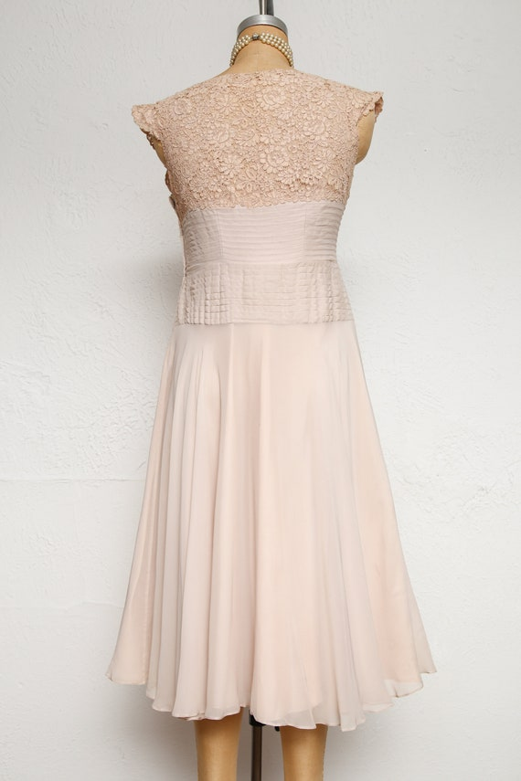 Beige Chiffon Pleated Dress - image 5