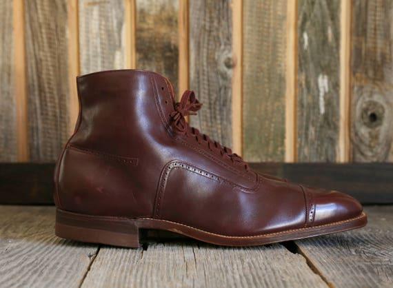 1910s Hi-Top Oxford Shoes . Edwardian Footwear