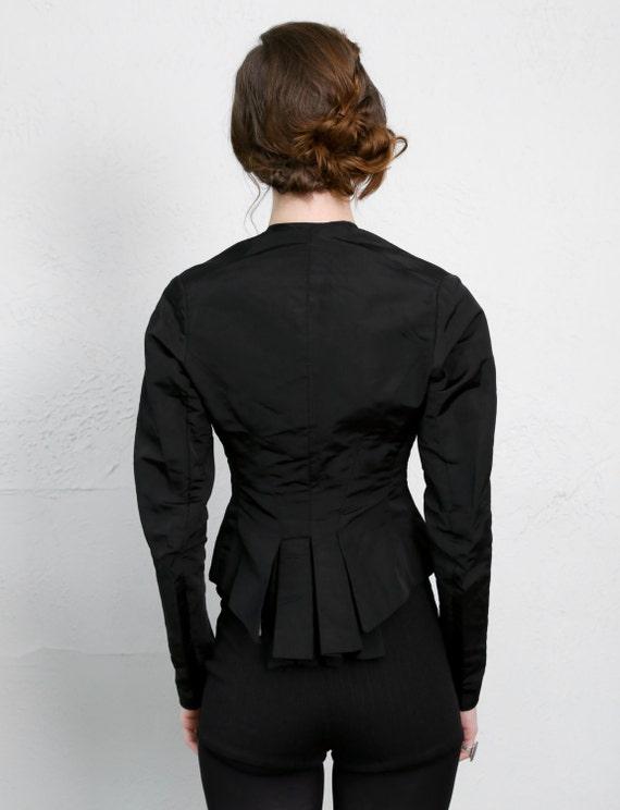 1800s Victorian Top Black Antique Blouse - image 4