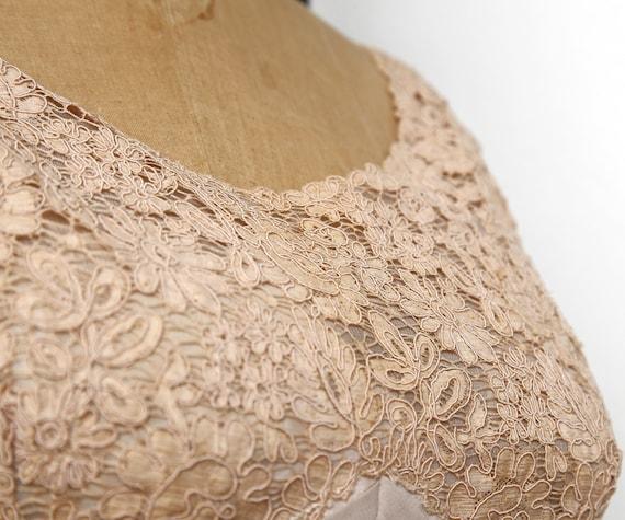 Beige Chiffon Pleated Dress - image 4
