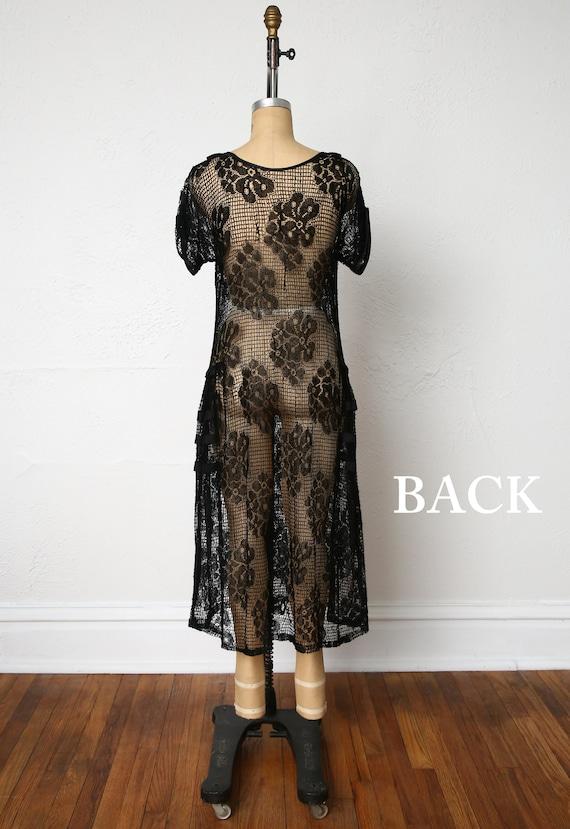 1920s Sheer Lace dress - image 5