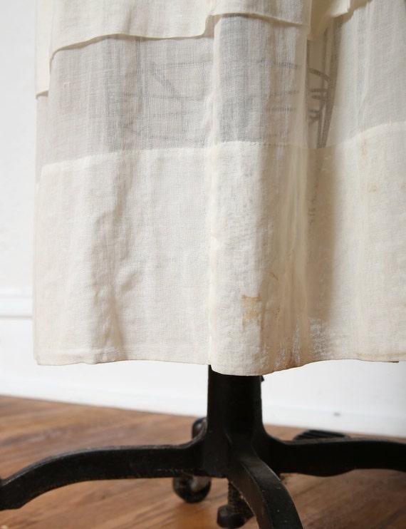 Antique 1900s Lace Dress Ivory Cotton Gown - image 9