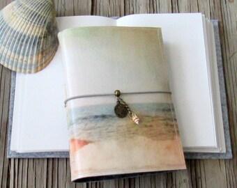 Coastal Journal - mermaid seahorse seashells beach vacation travel journal by tremundo