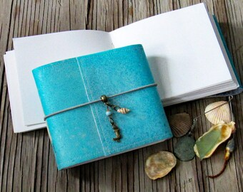 Mermaid Journal pocket size - mermaid seashell beach vacation journal by tremundo
