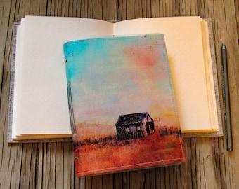 The Shack-  canvas cover journal of original shack painting Long Beach Island NJ - tremundo