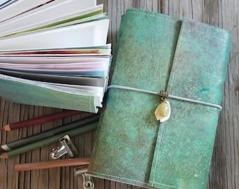 art journal - art junk diary sketchbook journal, artist gift - tremundo