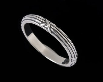 Narrow Harvest Ring Band, Engraved Collection      2516S