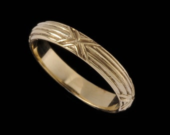Medium Harvest Ring Band, Engraved Collection 2521XG