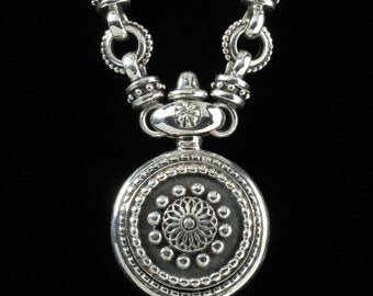 Sundial Necklace, B.C. Silver Collection       6101S