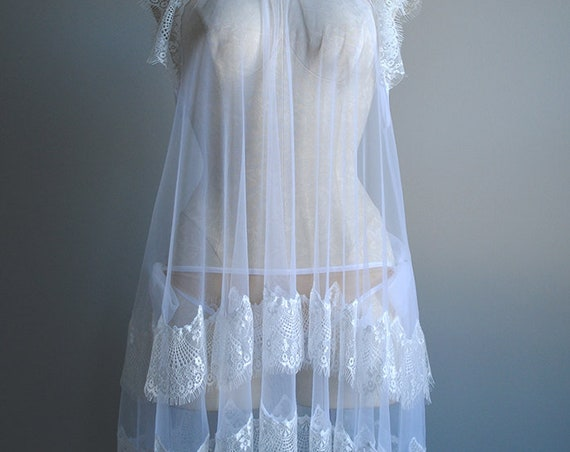 Aurai Babydoll - Sheer White