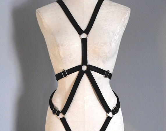 Lennox Unisex Adjustable PVC Body Harness (multiple colors available)