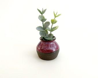 Miniature Bud Vase, Pottery Handmade. Succulent Pot, Little Hanging Ceramic Planter, Miniature Planter