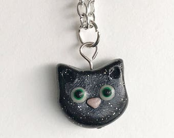 Cat Necklace, Polymer Clay, Cat Necklace, Cat Lover, Cat Charm, Custom Cat Necklace, Kawaii Jewelry, Kawaii Gifts, Kitty Cat Charm