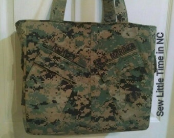 Handmade Air Force Diaper Bag unisex design  your choice colors words custom