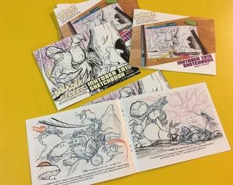 Boulder and Fleet Inktober 2015 Sketchbook