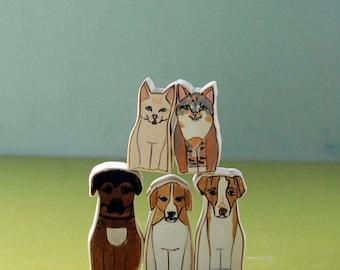 Custom Pet Sculptures- Five Pets