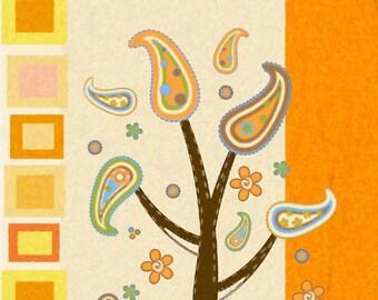 Artwork, Family Tree, Colorful, Vintage, Retro, Download, Digital