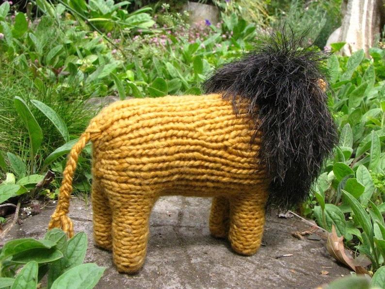 Waldorf Toy Lion Toy Knitting Pattern PDF Digital Download ...